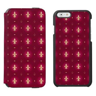 明るい赤紫色及び金ゴールドの(紋章の)フラ・ダ・リのフランス人の例 INCIPIO WATSON™ iPhone 5 財布型ケース
