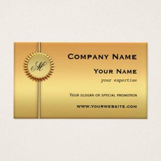 明るい金ゴールドの特別なプロモーションの名刺 名刺