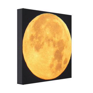 明るい金月 キャンバスプリント