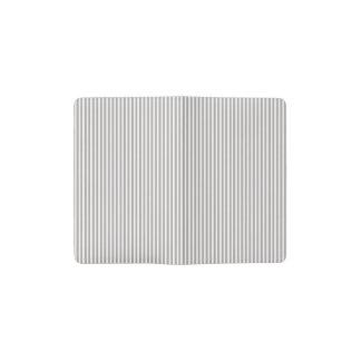 明るい銀製のアザミの小屋のストライプパターン ポケットMoleskineノートブック
