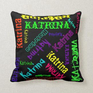 明るい電気色の一流のコラージュの枕 クッション