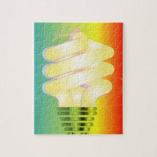 明るい電球のパズル ジグソーパズル