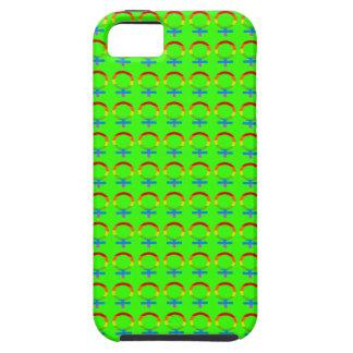 明るい青リンゴ色の虹の女性の記号パターン iPhone SE/5/5s ケース