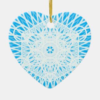 明るい青喉のチャクラの神聖な幾何学 セラミックオーナメント