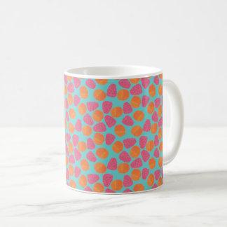 明るい青緑のラズベリーの蜜柑 コーヒーマグカップ