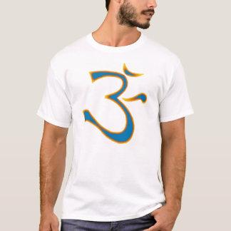 明るい青OM Tシャツ