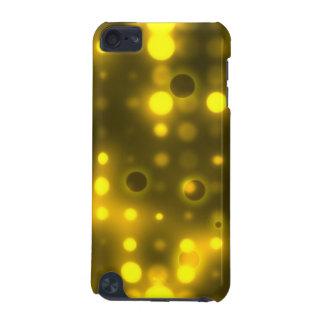 明るい黄色灯の水玉模様パターン iPod TOUCH 5G ケース