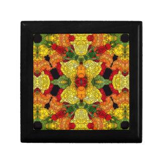明るい黄色緑の抽象芸術 ギフトボックス