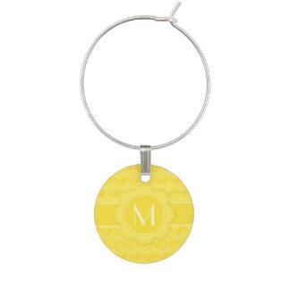 明るい黄色3Dの立方体の滝のように落ちること ワインチャーム
