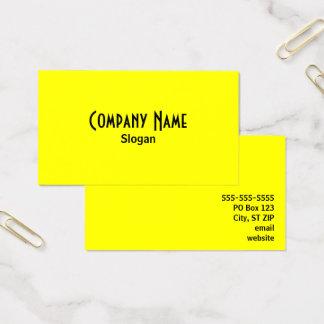 明るい黄色 名刺