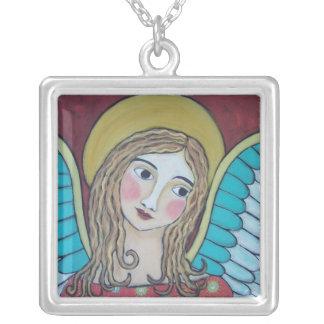 明るい。 カラフルな天使のネックレス シルバープレートネックレス