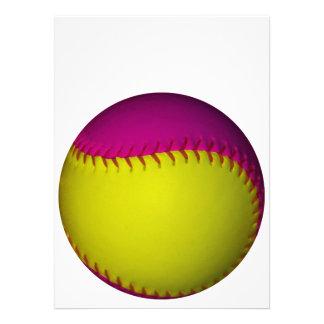 明るい 黄色 ピンク ソフトボール