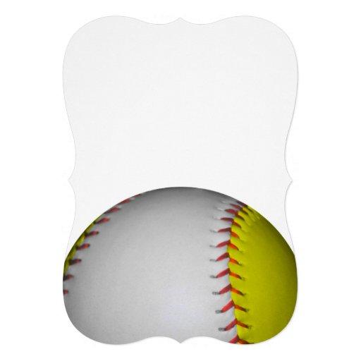 明るい|黄色|白い|ソフトボール 自分だけの招待状