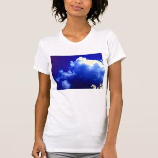 明るいBlue&Yellowの無秩序の積雲のcongestusおよびG Tシャツ