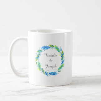 明るいBoho  のモダンな結婚式のマグ コーヒーマグカップ