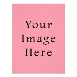 明るいBubblegumピンク色の傾向のブランクのテンプレート フォトプリント