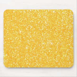 明るいCanary Yellowグリッターおよびサフラン マウスパッド