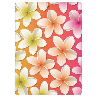 明るいFrangipani/のプルメリアの花 クリップボード