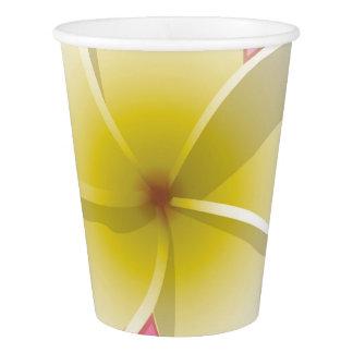 明るいFrangipani/のプルメリアの花 紙コップ
