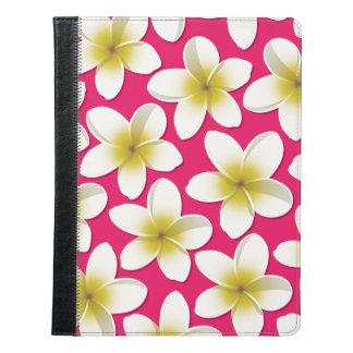 明るいFrangipani/のプルメリアの花 iPadケース