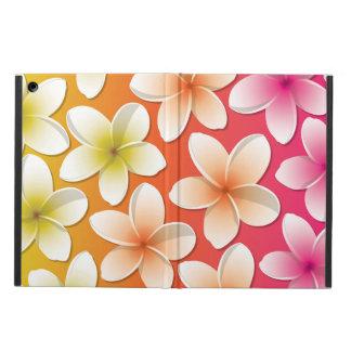 明るいFrangipani/のプルメリアの花 iPad Airケース