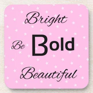 明るくはっきりしたで美しいピンクをインスパイア単語 コースター