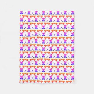 明るくカラフルで幾何学的な勾配パターン フリースブランケット