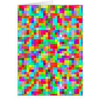 明るくカラフルなピクセルパターン カード