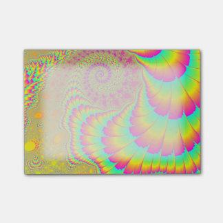 明るくサイケデリックな無限螺線形のフラクタルの芸術 ポスト・イット®ノート