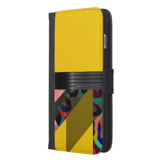 明るくファンシーで黄色い虹のチータ iPhone 6/6S PLUS ウォレットケース