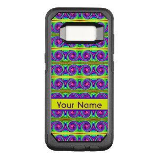 明るく多彩で黄色い紫色はパターンをカールします オッターボックスコミューターSamsung GALAXY S8 ケース