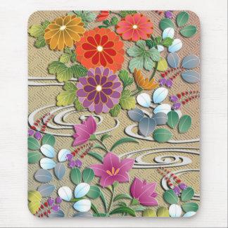 明るく多彩な秋の花 マウスパッド