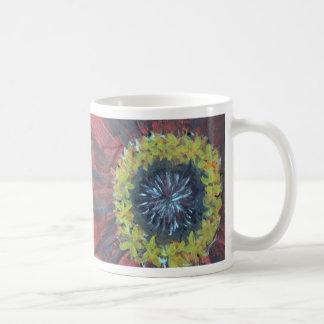 明るく大きい花のデザイン コーヒーマグカップ