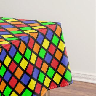 明るく幾何学的な正方形のテーブルクロス テーブルクロス