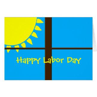 明るく明るい労働者の日の挨拶状 カード
