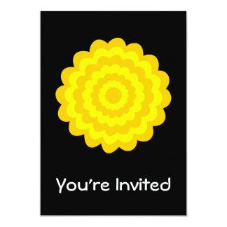 明るく明るく黄色い花。 黒 カード