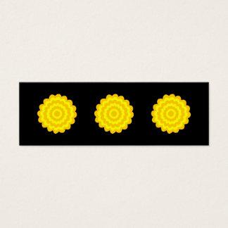 明るく明るく黄色い花。 黒 スキニー名刺