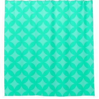 明るく真新しい緑のGeocirclesパターンデザイン シャワーカーテン