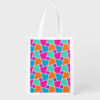 明るく着色されたイスラム教パターン: 買い物袋