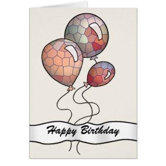 明るく着色されたパーティーの気球 カード