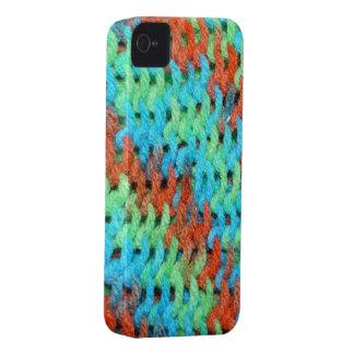 明るく着色されたヤーンの編まれたカバー Case-Mate iPhone 4 ケース