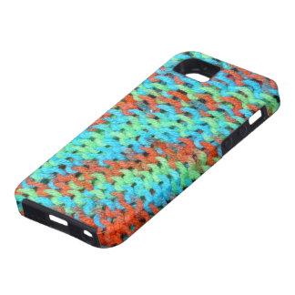 明るく着色されたヤーンの編まれたカバー iPhone SE/5/5s ケース