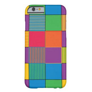 明るく着色された正方形およびストライプ BARELY THERE iPhone 6 ケース