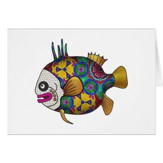 明るく着色された熱帯魚- 2 カード