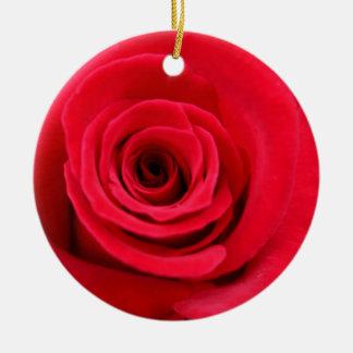 明るく赤いバラ セラミックオーナメント