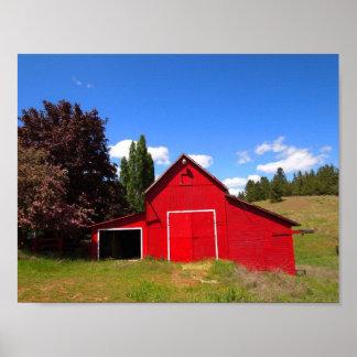 明るく赤い納屋 ポスター