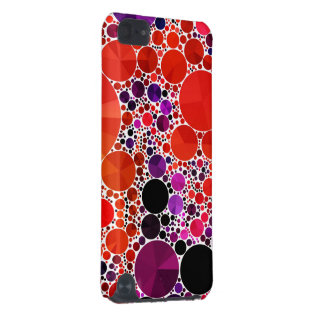 明るく赤い紫色のきらきら光るな抽象芸術 iPod TOUCH 5G ケース
