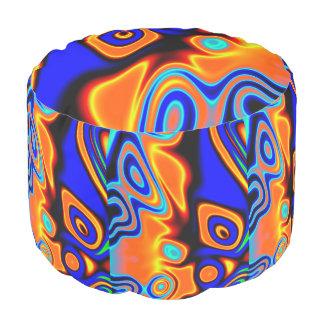 明るく青いオレンジ黄色の抽象芸術 プーフ