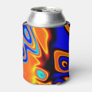 明るく青いオレンジ黄色の抽象芸術 缶クーラー