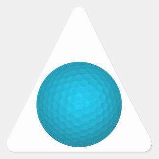 明るく青いゴルフ・ボール 三角形シール